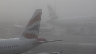 British Airways planes wait to depart from Terminal 5 at Heathrow