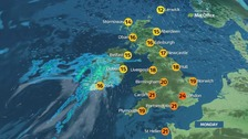 Weather: Mainly dry and bright with highs of 24C