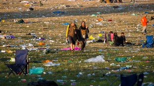 Huge clean-up underway at Glastonbury site