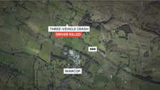 Man killed in three-vehicle crash on A66 near Appleby