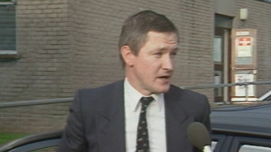 Pat Finucane being interviewed in 1988