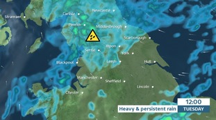 TUESDAY - Rain, heavy and persistent, develops in the north west