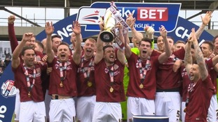The club's promotion to League One was a fairytale ending, after it nearly went out of business in November.