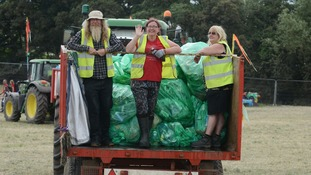 Glastonbury Festival clean up operation begins