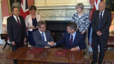 Tory-DUP pact deal finally sealed at Downing Street