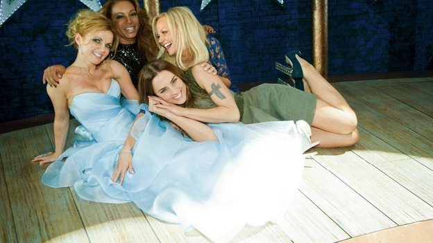 Spice Girls: Geri Halliwell, Melanie Brown, Emma Bunton and Melanie Chisholm at the premiere