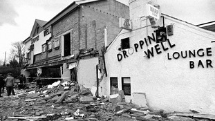 The Droppin Well in Ballykelly, Northern Ireland after the attack in 1982