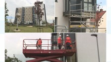 'Combustible' cladding is being removed in Stockton