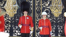 Woman officer at changing of guard at Buckingham Palace