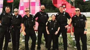 Avon and Somerset Police Force at this year's festival.