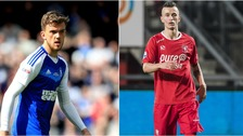 Emyr Huws (left) and Bersant Celina (right) are both on the verge of joining Ipswich Town.
