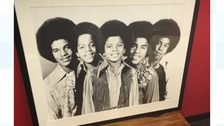 Autistic artist meets his inspiration the Jacksons