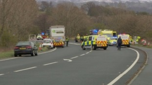 Man goes on trial for causing pensioner's death by dangerous driving on A66