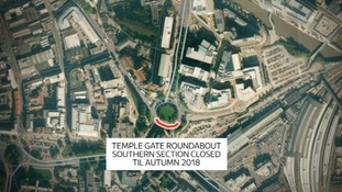 The Southern section of the Temple Gate Roundabout will be closed until autumn 2018.