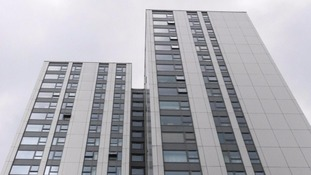Taplow Tower in the Chalcots estate in London where more than 700 flats have been evacuated.