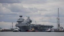 Royal Navy's largest ever warship sets sail for first time
