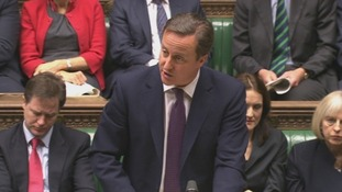 David Cameron addressing the Commmons