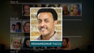 Mohamednur Tuccu's wife and daughter may also have perished in the fire.