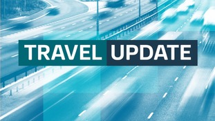 Lane closed on M1 Southbound
