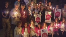RCN members stage vigil