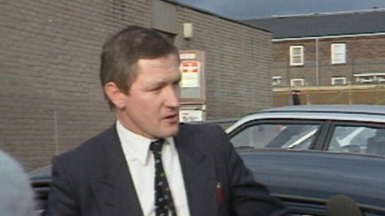 Par Finucane being interviewed in 1988