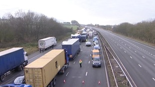 Traffic is being turned round on the M6 Northbound carriage