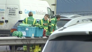 West Midlands Ambulance Service are on the scene