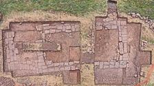 Foundations of church found on Lindisfarne