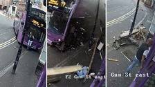 Miraculous escape as man hit by bus gets up and walks into pub