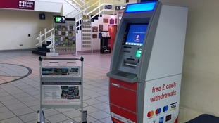 New ATM machine in Jersey airport arrivals hall