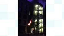 The fire in Station Place started in an electric fan