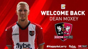 Dean Moxey rejoins Exeter City after eight-year absence