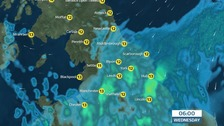 Rain from the southeast overnight into Wednesday