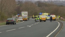 The scene of the crash on the A66 in 2016