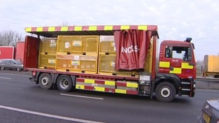 Fire Service lorry at the scene