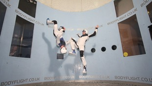 Skydivers at the Bodyflight centre in Bedford