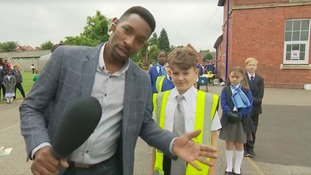 Des Coleman out and about for the latest School Stories report
