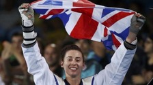 Bianca with Union flag