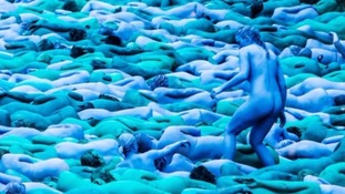 Spencer Tunick's Sea of Hull saw over 3,200 people wear nothing but blue paint in the name of art