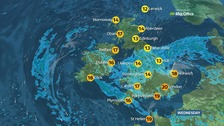 Weather: Staying changeable with spells of rain