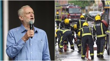 Corbyn challenges PM to end police and fire service cuts