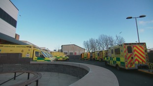 Ambulances waiting outside A&E