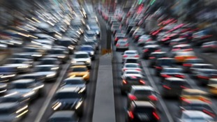 Traffic chaos following M62 accidents