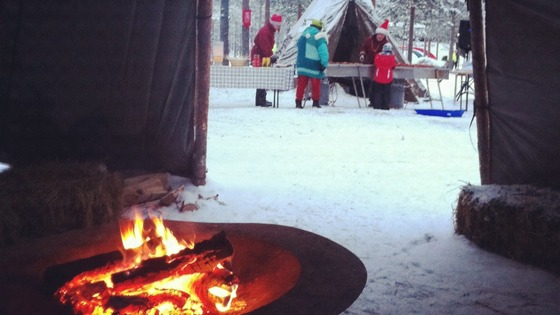 Keeping warm in Lapland