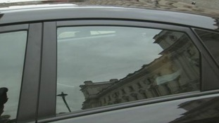 The North Korean Ambassador arrived in the back of car with tinted windows