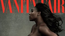 Which other pregnant stars have posed naked like Serena?