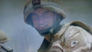 Aaron Black serving with Black Watch in Afghanistan