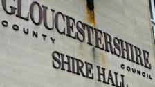 Protestors storm Gloucestershire County Council HQ