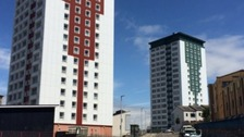 Cladding on Plymouth towers will stay until November