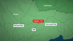 The incident happened in Marks Tey earlier this month